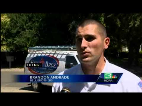Air Conditioning Repair in the Summer - Bell Brothers interview with KCRA